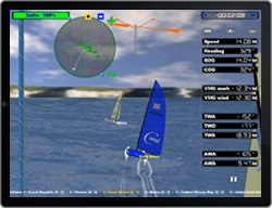 iPad running cWind Sailing Regatta